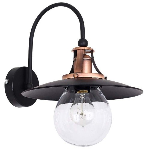 Cancun Industrial Wall lamp Black-Brass/Copper