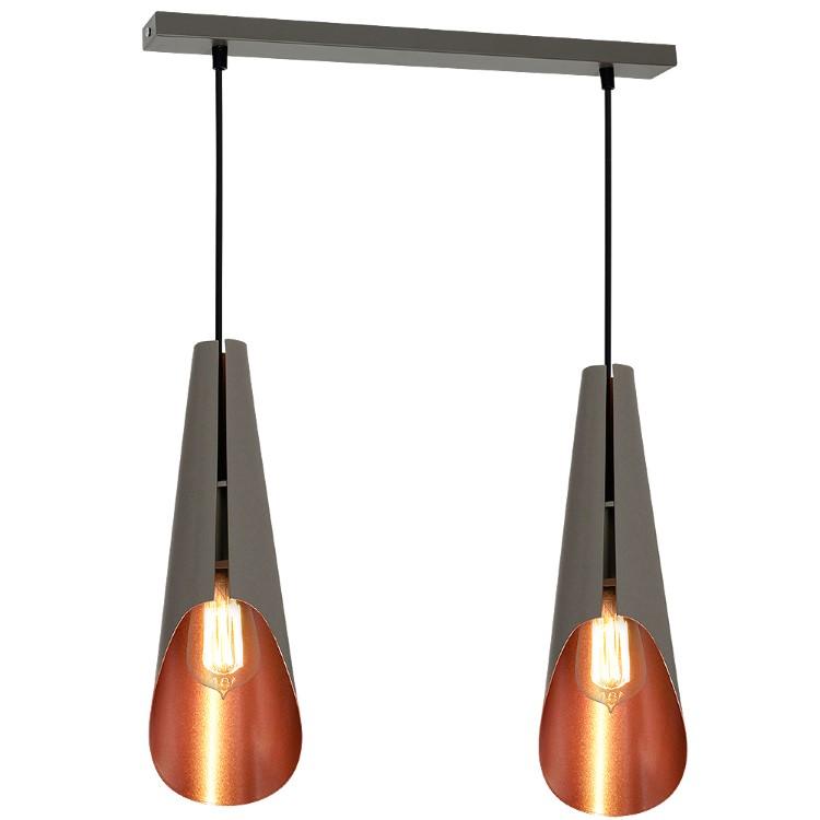 2-φωτο Μεταλλικό Φωτιστικό Οροφής Calyx Industrial
