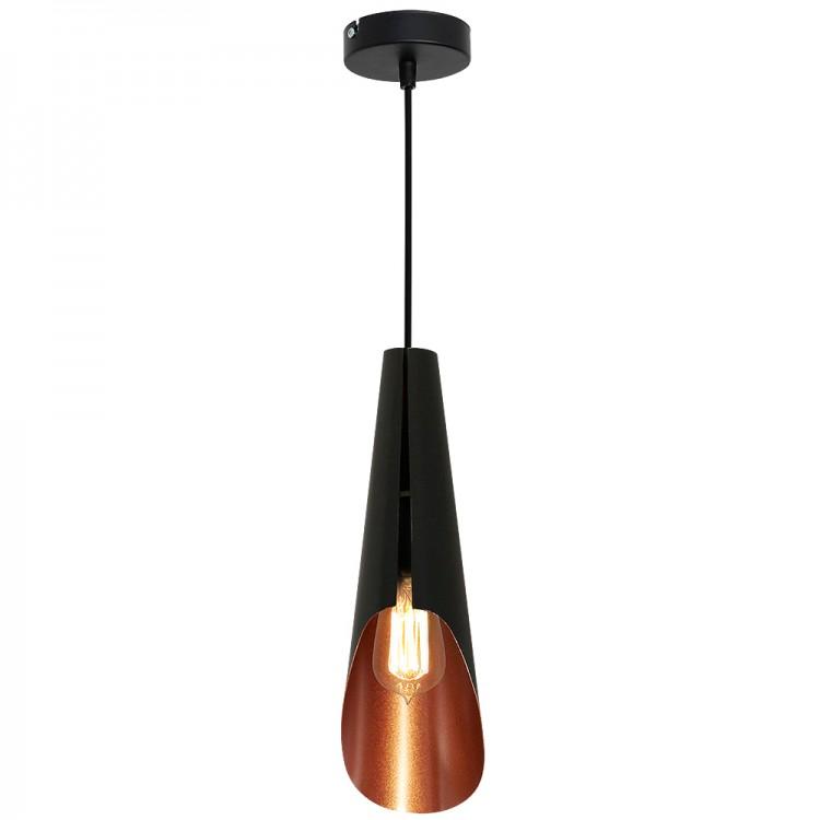 Μοντέρνο Κρεμαστό Φωτιστικό Calyx Industrial Μαύρο Χάλκινο
