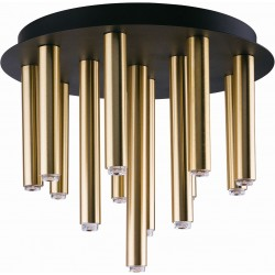 Ceiling Light Stalactite Black-Gold by Nowodvorski