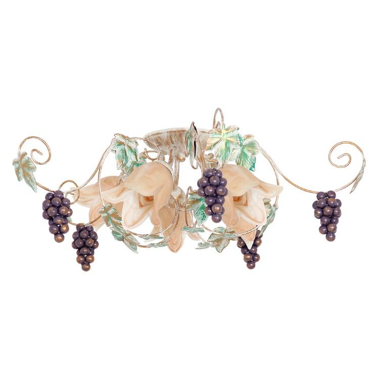 Retro 5-φωτο Φωτιστικό Οροφής Grape με παλαιωμένη βαφή