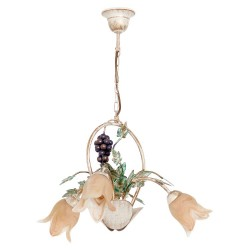 Chandelier Grape hand painted with leaves and flowers (3xE14)