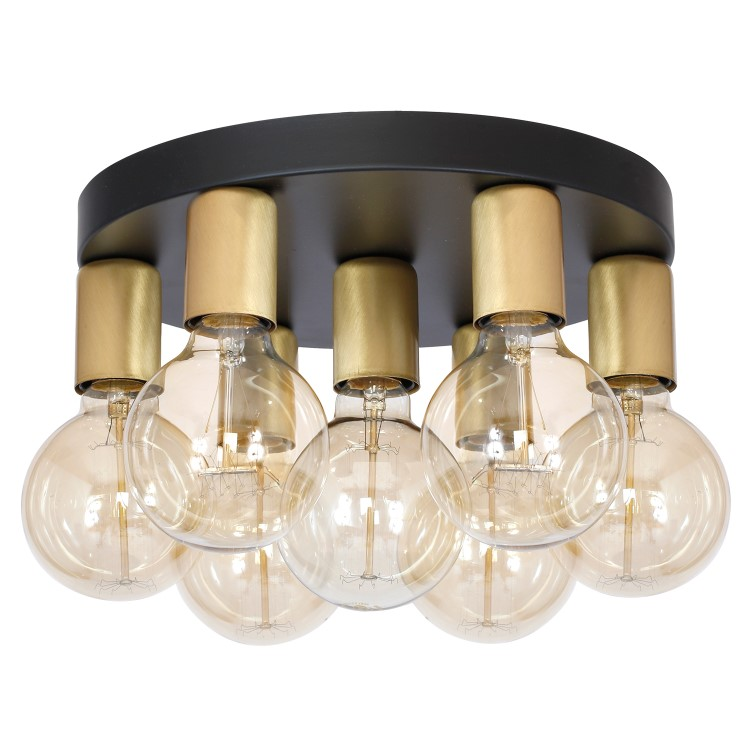 Metal Modern Ceiling Lamp Magnus Black Gold (7x27)