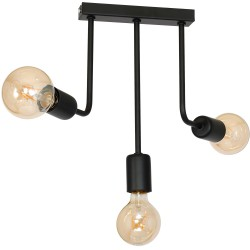 Hanging Lamp Candella Double Lamps Black