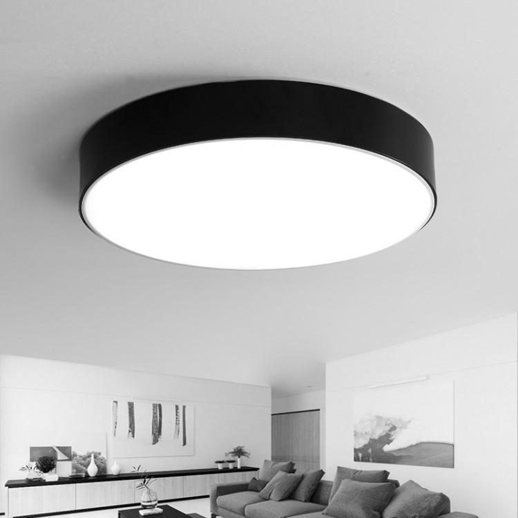 Φωτιστικο Οροφής Πλαφονιέρα Φ30 Μαύρο πλαίσιο Μεταλλικό