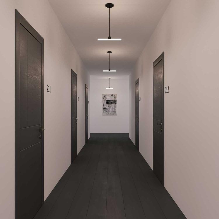 LED Γραμμικό Φωτιστικό Οροφής Μαύρο 30cm/50cm 7W/10W Θερμό/Φυσικό/Ψυχρό Φως