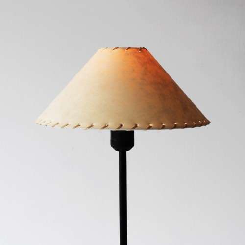 Table Lamp with Black Base and Papyrus Lampshade