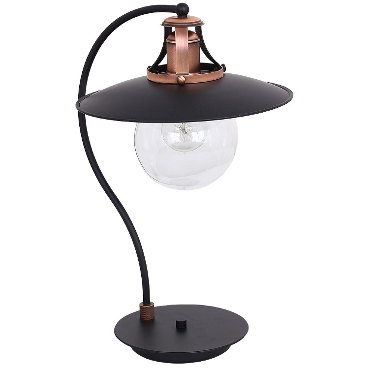 Industrial Table Lamp Cancun Black copper