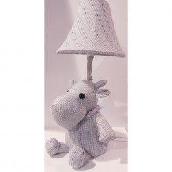 Kids lamp hippopotamus Baby Blue Fabric Material