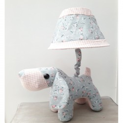 Kids lamp doggy Baby Blue Fabric Material