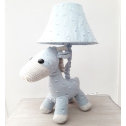 Kids lamp Horse Baby Blue Fabric Material