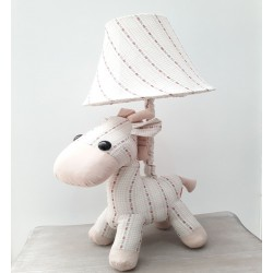 Kids lamp Horse Baby Cream White Fabric Material
