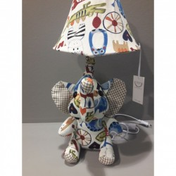 Kids lamp Elephant Baby Fabric Material