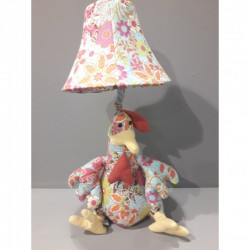 Kids lamp Chicken Baby Blue Fabric Material
