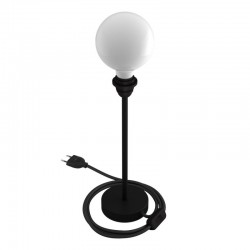 Metallic Base for Table Lamp Black 30cm by Creative-Cables