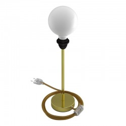 Metallic Base for Table Lamp Gold 30cm by Creative-Cables