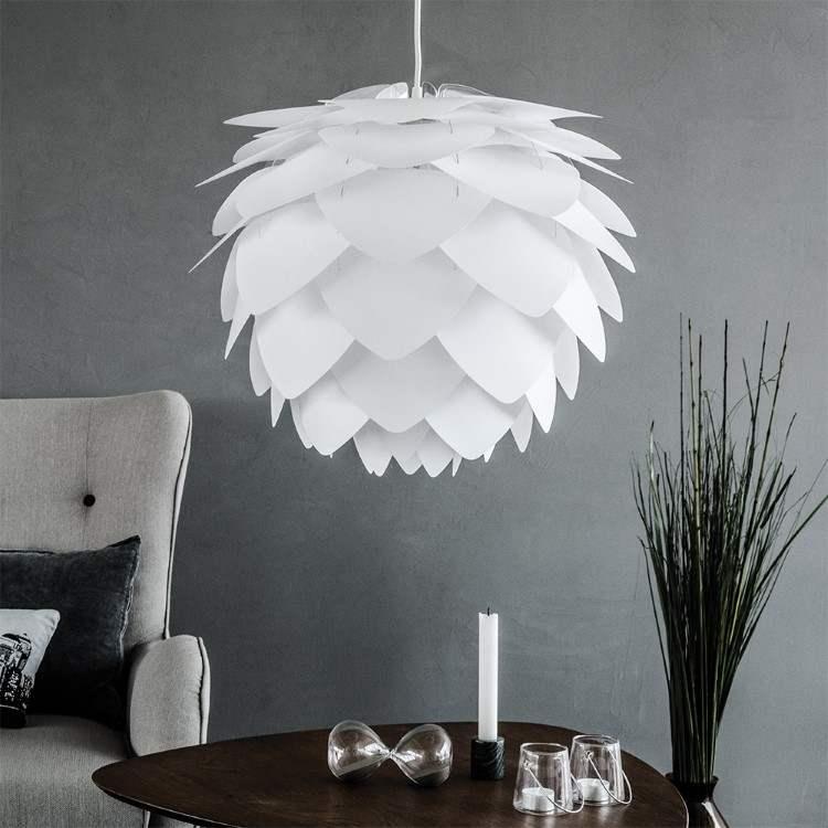 Κουκουνάρα SILVIA Λευκό Φ50 by UMAGE