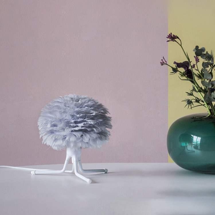 Φωτιστικό με Πούπουλο EOS Micro Φ22 Light Grey by VITA