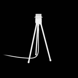 Tripod Table White/Black 19x36cm