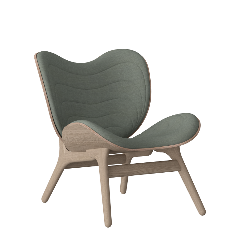 Πολυθρόνα A Conversation Piece Οξια με Πράσινο Ύφασμα