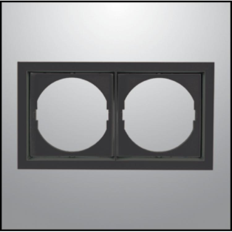 Πλαίσιο 2-φωτο Μαύρο Square Χωνευτό Οροφής 8844