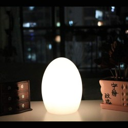 LED Rechargeable Table Lamp Egg 3W 100-240V IP66 WRGB