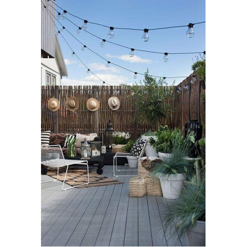 String Lights for Outdoor Use 3meters with 6 lampholders