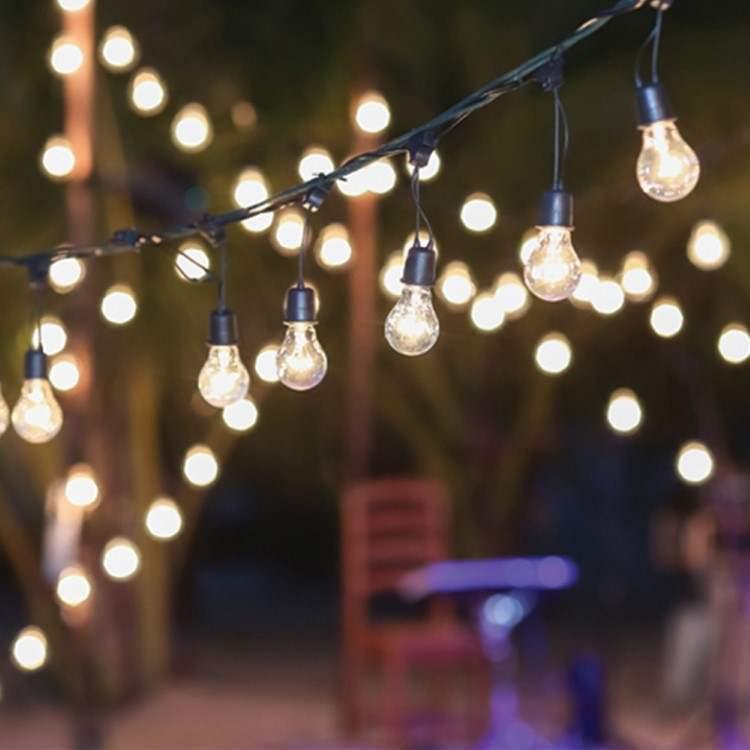 Γιρλάντα με φωτάκια εξωτερικού χώρου με κρεμαστές λάμπες επεκτεινόμενη - 5,2m με 5 ντουί