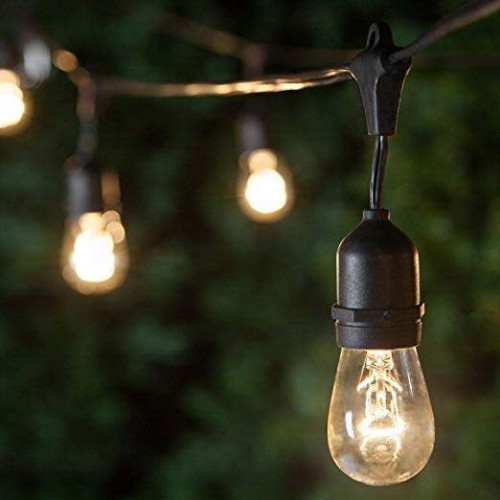 String Lights for Outdoor Use Pendant Lamps - 5.2meters with 5 lampholders