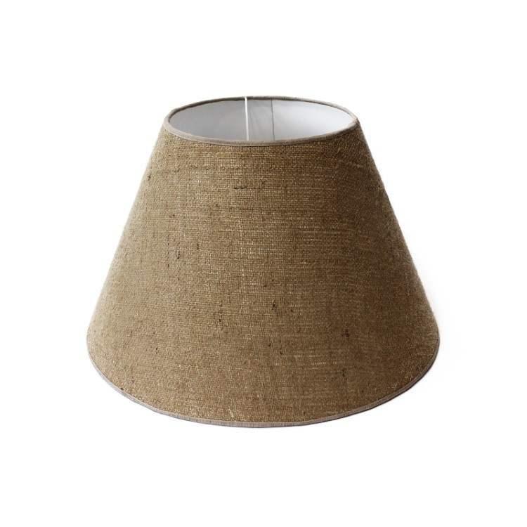 Handmade Lampshade 45cm Natural Linen Fabric