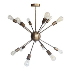 Sputnik Multi-Pendant Lamp Bronze with 12 bulbs