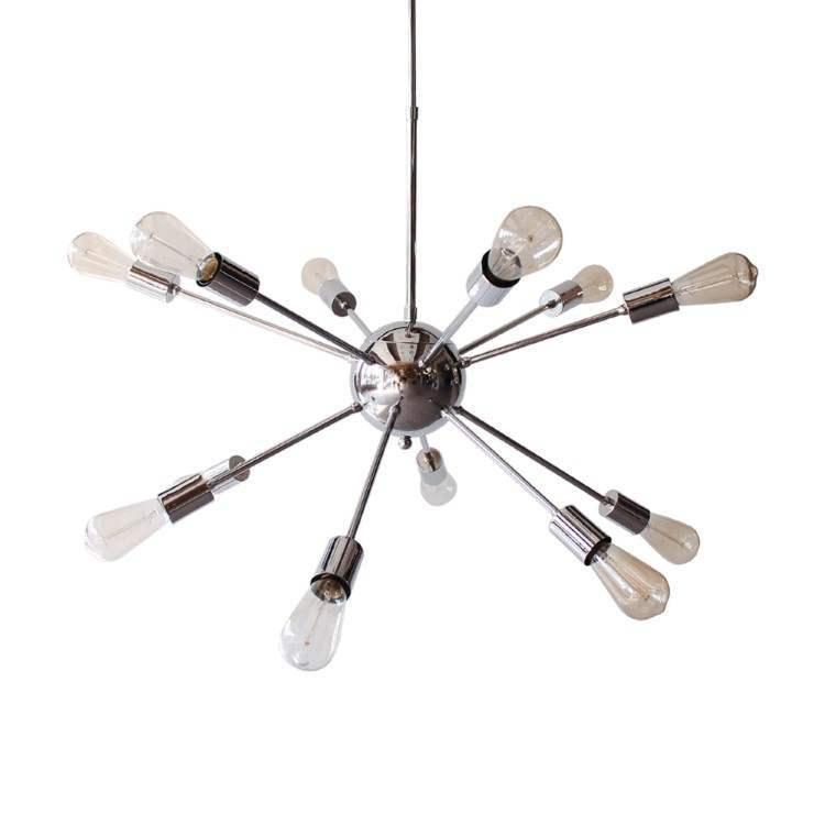 Sputnik Πολύφωτο Κρεμαστό Φωτιστικό Χρώμιο με 12 λάμπες