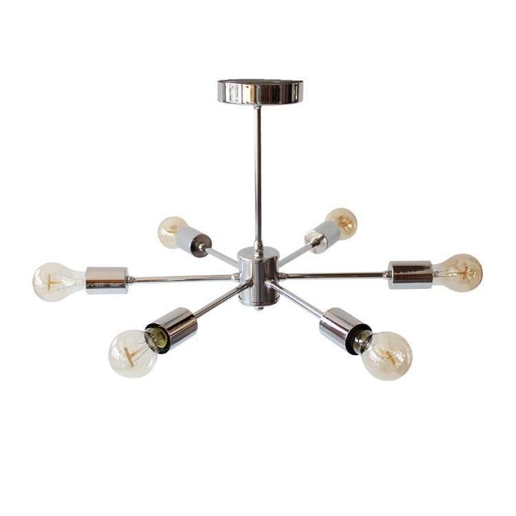 Sputnik Πολύφωτο Φωτιστικό Οροφής Χρώμιο με 6 λάμπες