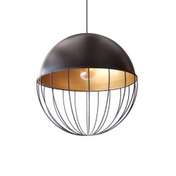 Hanging Lamp Ball 52cm black with Gold