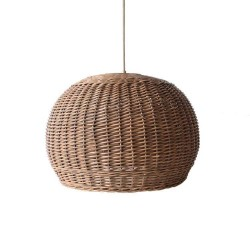 Boho Round Lampshade 45cm Coffee Brown