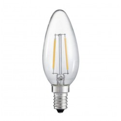 LED E14 Filament 6W Candle Dimmable