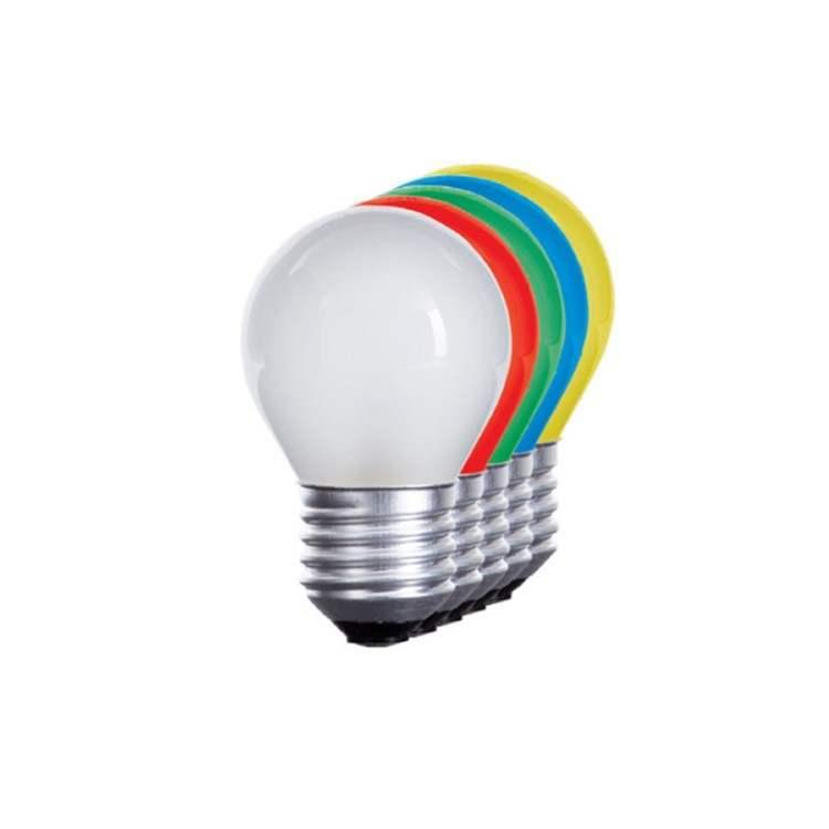 E27 LED Σφαιρικό 1W G45 230V Θερμό Φως ή Χρώματα