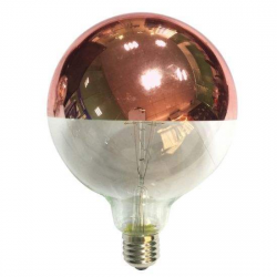 LED Globe G125mm E27 6W Dimmable Copper Mirror