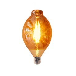 LED Plovi E27 6W Dimmable Gold Glass με νήμα