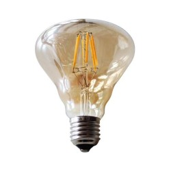 LED Soho E27 6W Dimmable Gold Glass με νήμα