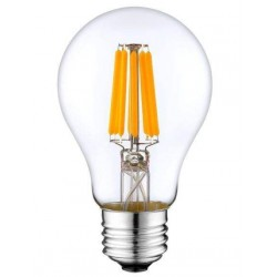 LED Λαμπτήρας με νήμα Filament E27 8W Α60 Θερμή Dimmable