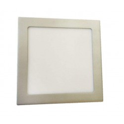 LED Recessed Square Panel 18W Inox