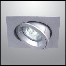 Movable Spots Square Recessed Silver GU10 Ray-S